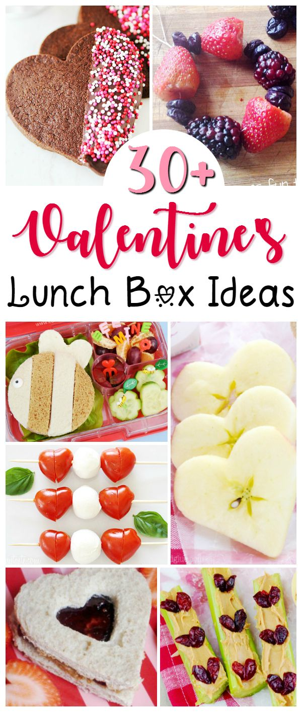 Valentine's Lunch Box Ideas for your sweethearts - of any age! Mostly healthy Valentine's recipes to treat your family with, along with a couple dessert ideas that are perfect for tucking in a packed lunch or handing out as an edible Valentine