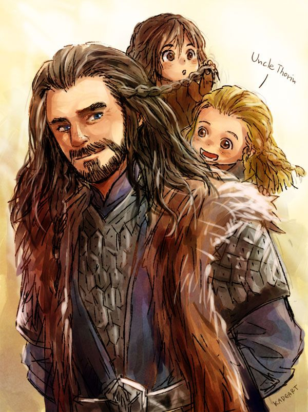 Uncle Thorin and little nephew by *Kadeart0 on deviantART