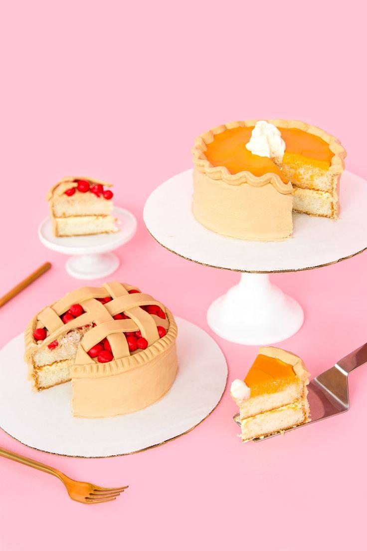 DIY Thanksgiving Pie Cakes