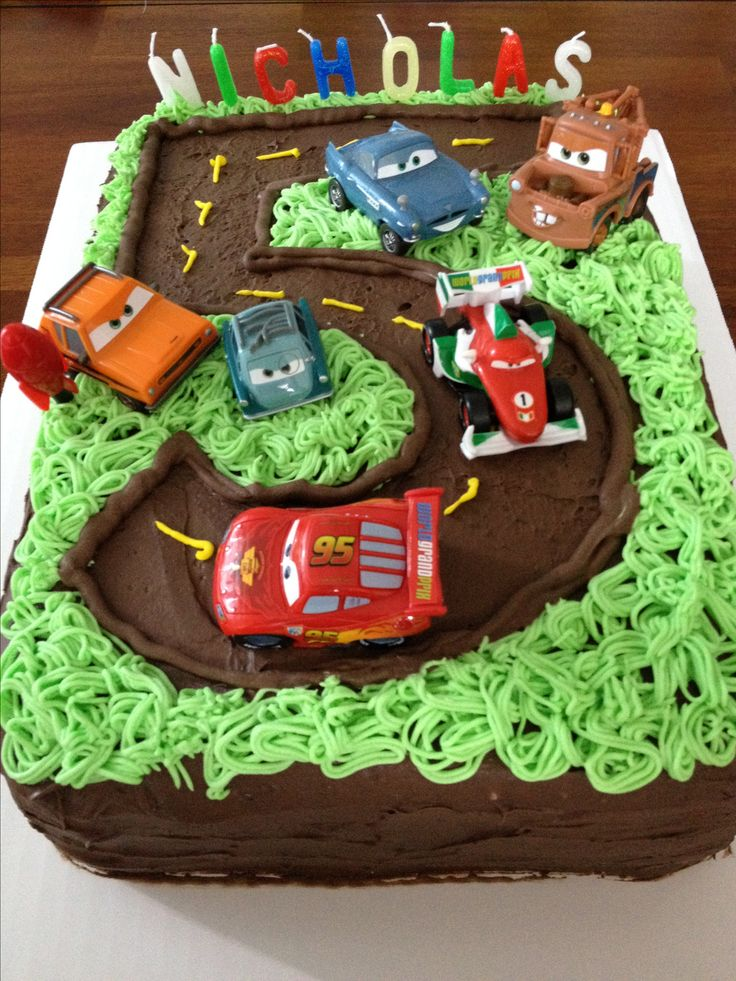 Cake Design For 5 Year Old Boy : Cars 2 Birthday Cake Birthday Party Ideas Pinterest ...