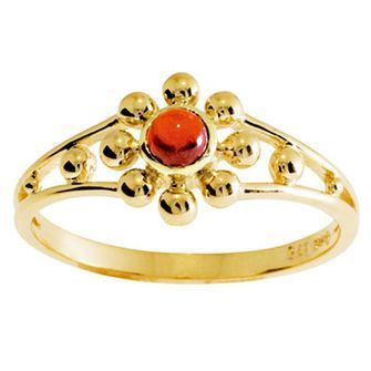 Buy our Australian made Garnet Flower Ring - BEE-25063-GT online. Explore our range of custom made chain jewellery, rings, pendants, earrings and charms.