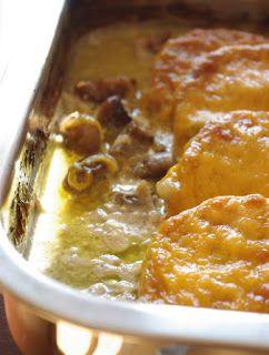 Ági főz: Tejszínben sült gombás karaj