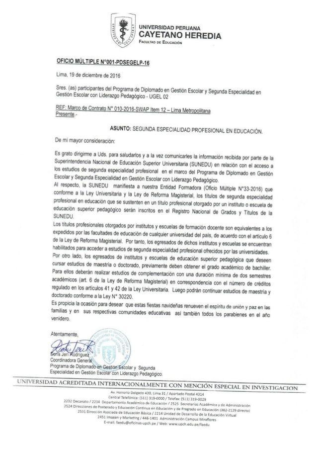 Teresa Clotilde Ojeda Sánchez: Título pedagógico no universitario es sustento par...