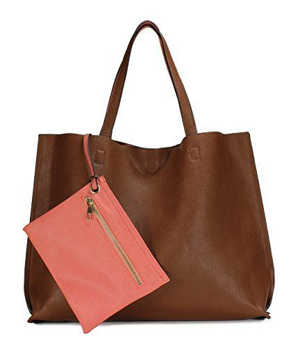 New Trending Tote Bags: Scarleton Stylish Reversible Tote Bag H18420452 - Brown/Coral Pink. Scarleton Stylish Reversible Tote Bag H18420452 – Brown/Coral Pink  Special Offer: $25.99  222 Reviews The Scarleton Stylish Reversible Tote Bag is a chic way to keep all your essentials right at your fingertips. This trendy handbag is large enough to accommodate your cell phone,...