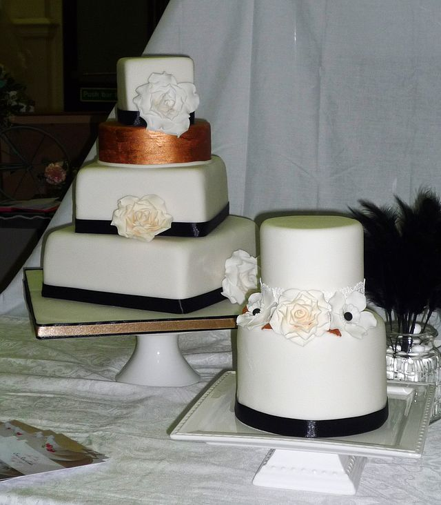 coco chanel inspired vintage wedding cake by eva rose cakes with buffet vintage occasion. Black Bedroom Furniture Sets. Home Design Ideas
