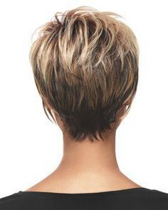 Short Wedge Hairstyles Back View Stacked