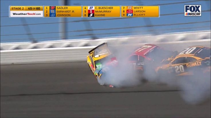 Earnhardt Jr., Kyle Busch involved in Daytona wreck  -  February 28, 2017