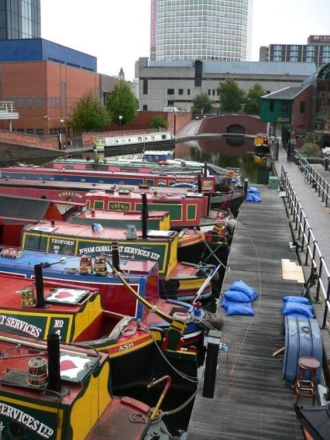 Longboats at Gas Street Basin