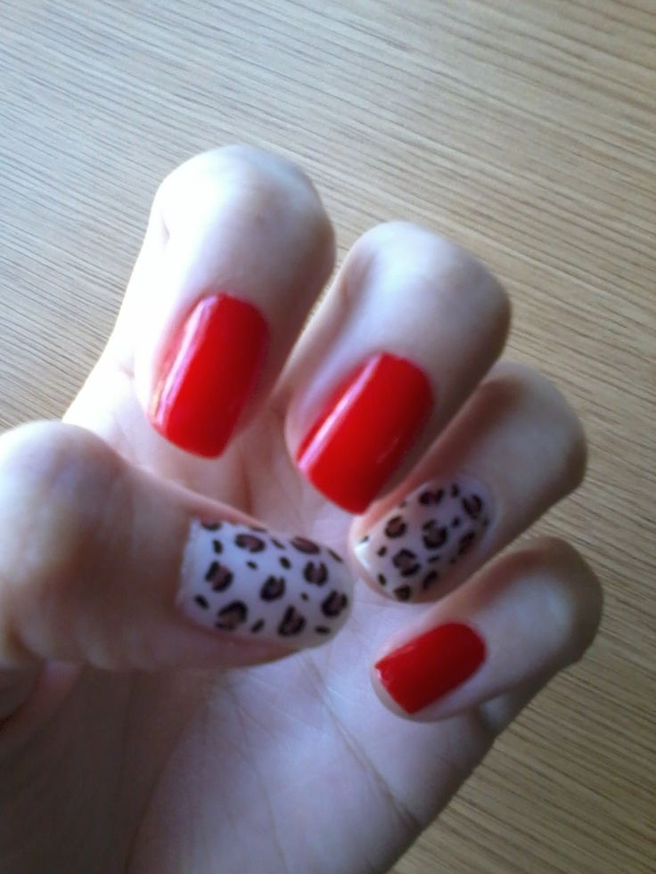Animal print and red
