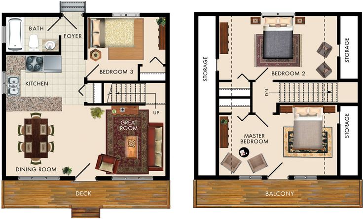 Caledon I Floor Plan 1008 Sq ft. 3 bed