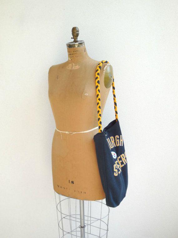 Pittsburgh Steelers Sweatshirt Purse Womens Recycled Bag by ohzie #pittsburghsteelers #steelers #football