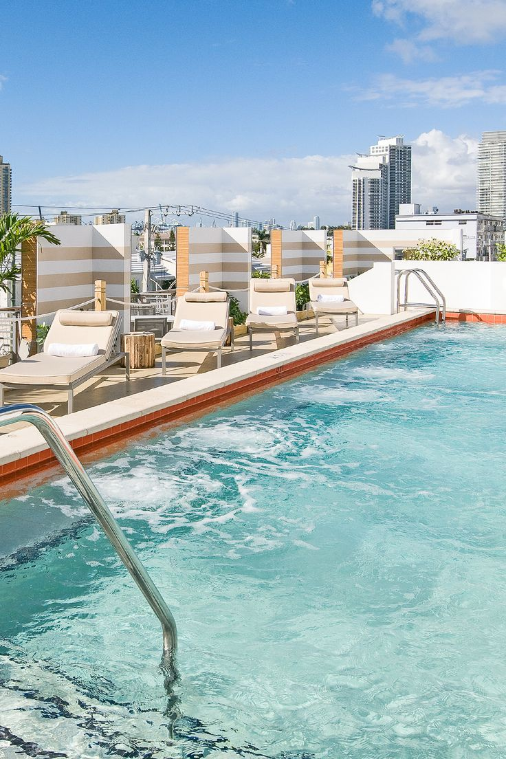 "Sense Beach House // Miami Beach // A serene boutique getaway steps from the action, complete with city or ocean views, plus a 46"" flat-screen and (best of all!) fully stocked minibar.  Rooftop pool and terrace are equally amazing day and night, while the onsite raw bar serves up local flavors with a hint of cha-cha."