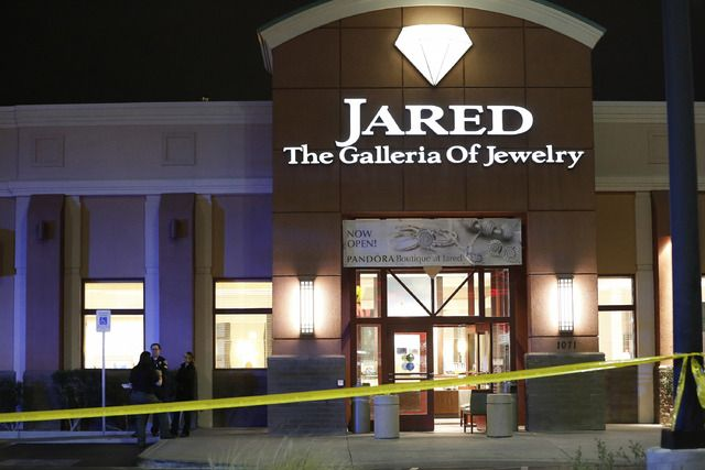 A Henderson jewelry store employee who was accidentally killed by a security guard during an attempted robbery has been identified by the Clark County coroner.  Kimberlee Ann Kincaid-Hill, 57, was struck in the chest just before 9 p.m. Saturday when a security guard shot at but missed an armed robber who entered Jared The Galleria of Jewelry, 1071 W. Sunset Road. Kincaid-Hill was taken to Sunrise Hospital and Medical Center, where she died. The coroner ruled her death a homicide.