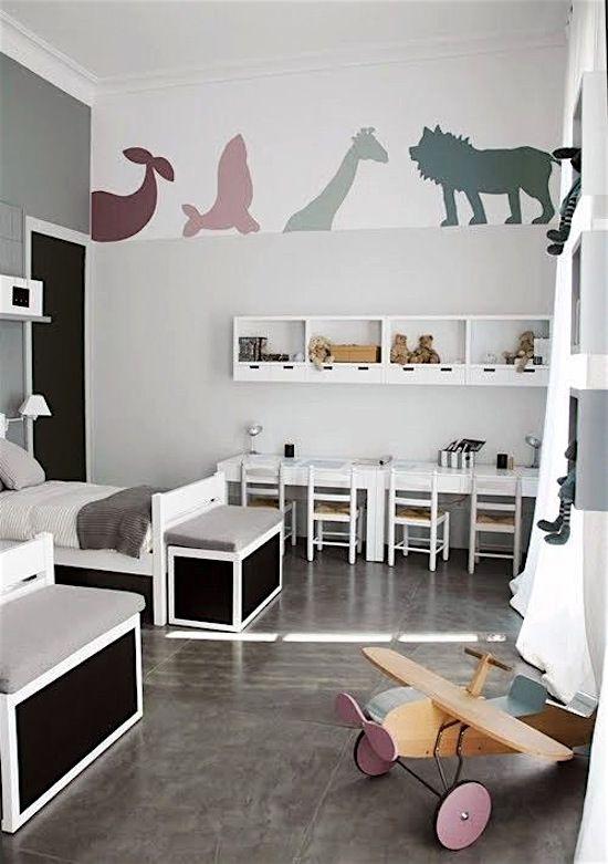 Woon je klein en delen je kinderen een kamer? Check hier de mooiste kinderkamers voor twee!