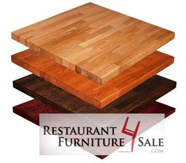 36-Inch Square Butcher Block Solid Wood Restaurant Table Top - Red Oak Tables Available in Choice of Stain Color