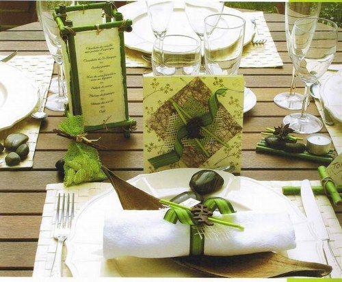 marque place theme exotique et bambou | ... pour le 30 AVRIL 2008 - Du bambou. : Album photo - aufeminin.com