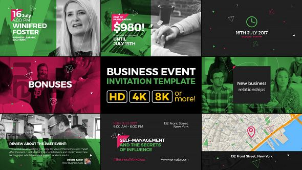 Business Event Invitation Modern and Clean Promo Business - Business Event Invitation