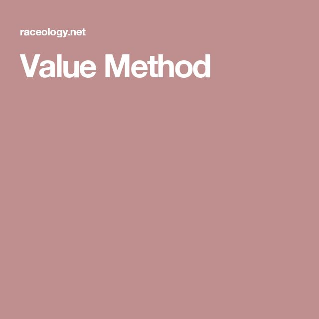 Value Method