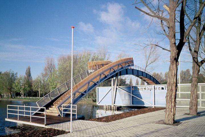 Simone Drost Architecture, Rotterdam, zintuiglijke en duurzame architectuur, Drost en van Veen, Brug Plaswijckpark, Rotterdam