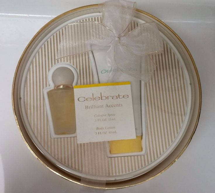 Coty Celebrate Cologne Spray .5 oz 15 ml Body Lotion 3 oz Gift Set New Old Stock #Coty