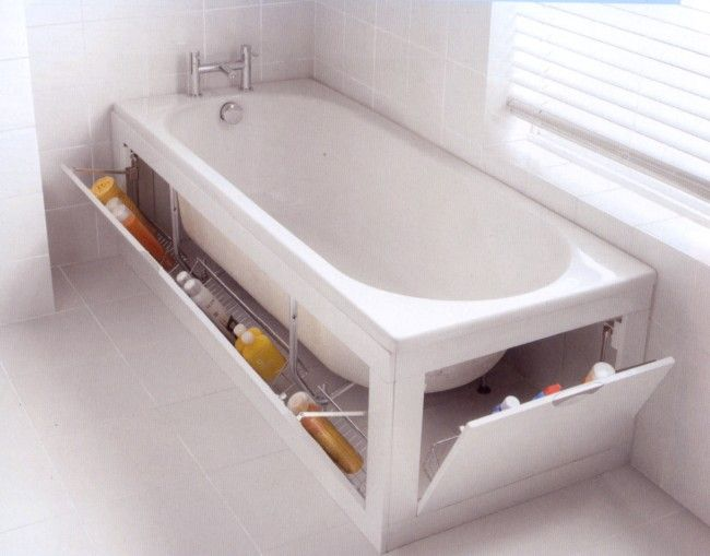 Stowaway Adds Storage Space Under Your Bathtub