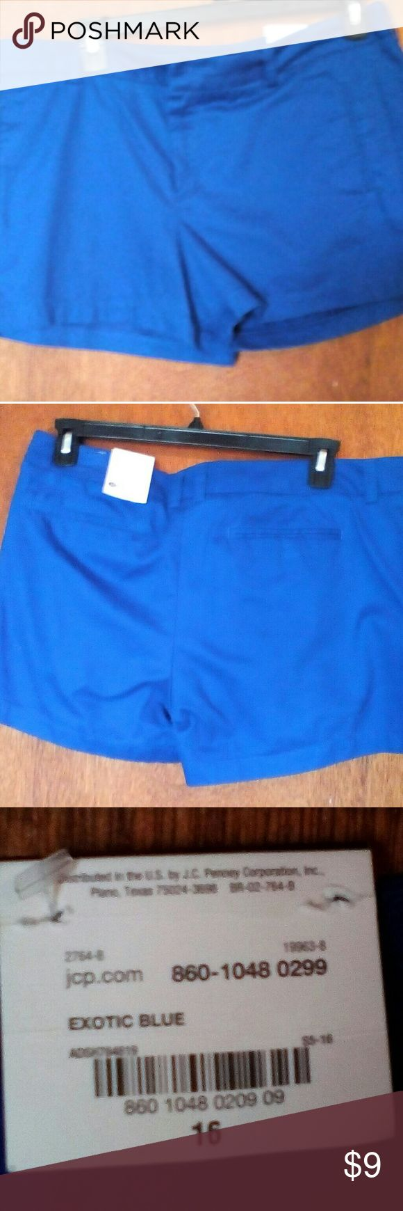 Royal blue shorts, women's size 16, new with tags. New royal blue shorts by Style, size 16, with tags. 20% off bundles!! Style & Co Shorts