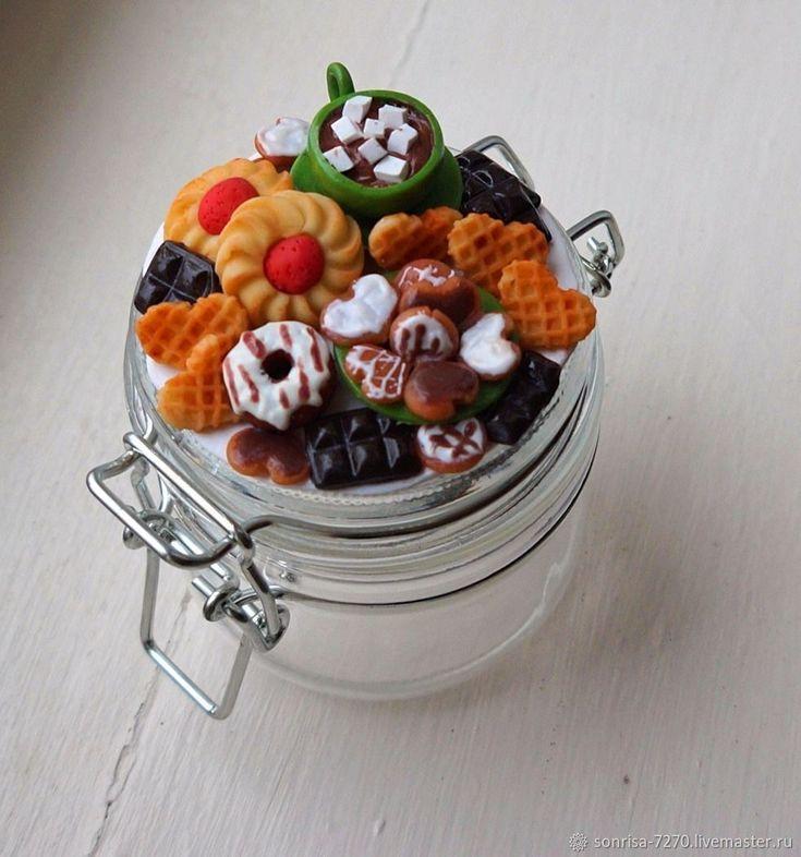 Баночка со сладким декором – купить в интернет-магазине на Ярмарке Мастеров с доставкой