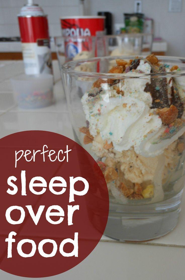 Oh yes...sleep over food!