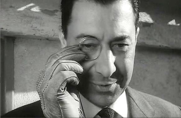 L'Oeil du Monocle, 1962. Réalisé par Georges Lautner Avec Paul Meurisse, Elga Andersen et Robert Dalban Édité par Pathé
