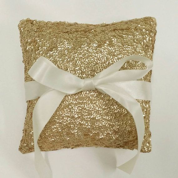 Hey, I found this really awesome Etsy listing at https://www.etsy.com/listing/224632228/gold-sequin-ring-pillow-wedding-ring