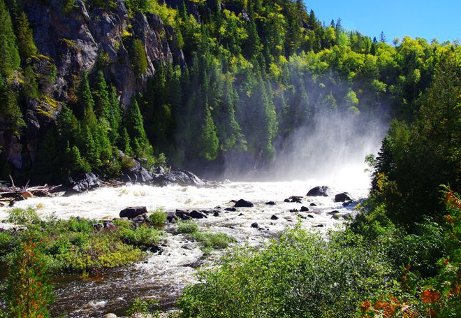 The White River on the Coastal Trail in Pukaskwa National Park