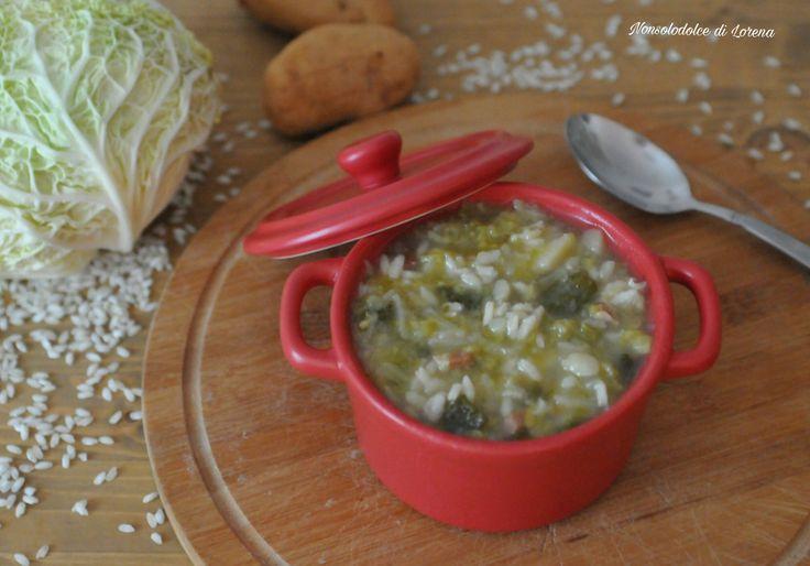 Minestra di verza patate e riso