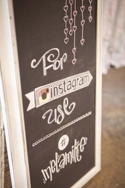 Clever for those instagram lovers. Photography by cmcdadephotograph... Event Planning + Floral Design by funkyshackwedding...  Read more -