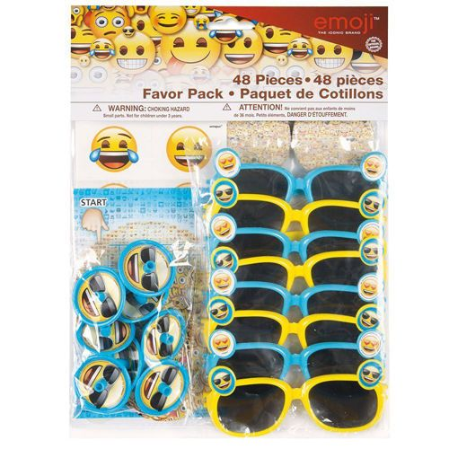 Emoji Favor Pack 48Pc Birthday Party Supplies Iphone Android Text Message