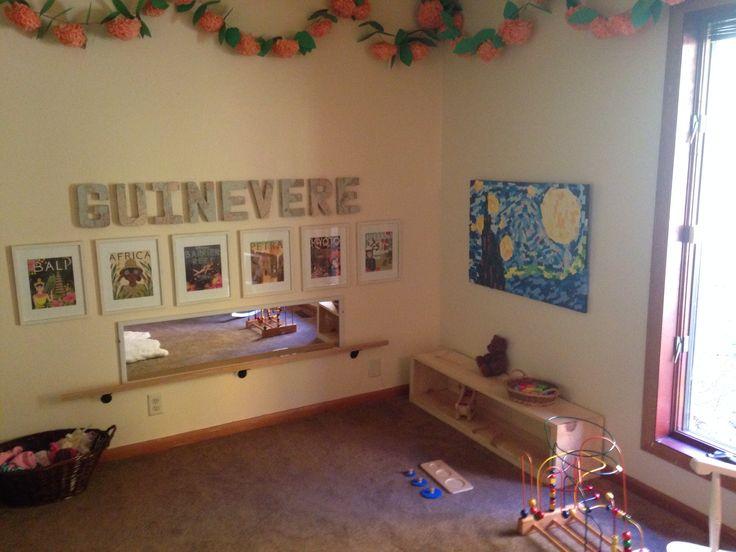 Montessori Bedroom Montessori Pull Up Bar Montessori Low Shelf Guinevere