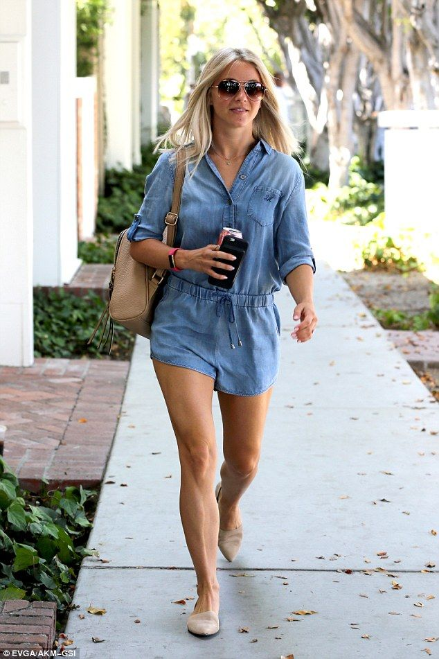 Dancer body:Julianne Hough indulged in some shopping at Kate Somerville in West Hollywood on Thursday