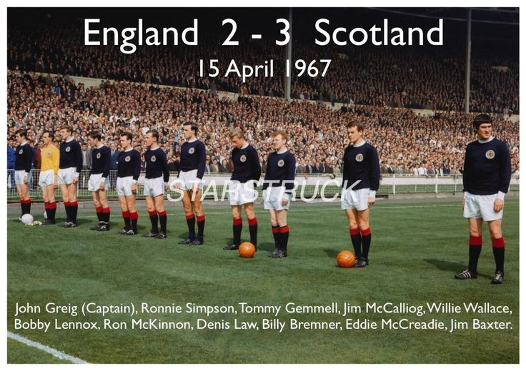 England v Scotland 1967 at Wembley 2-3 Billy Bremner Jim Baxter Denis Law John Greig Bobby Lennox Exclusive A4 Print: Amazon.co.uk: Sports & Outdoors