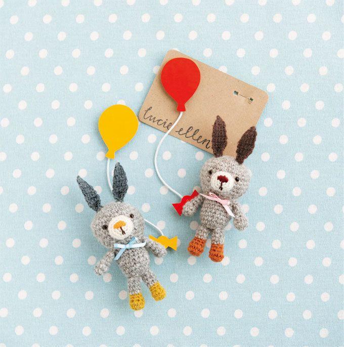 黄色とオレンジのブーツがGOOD!おしゃれなうさぎのあみぐるみの編み方(ニット・編み物) | ぬくもり bunny