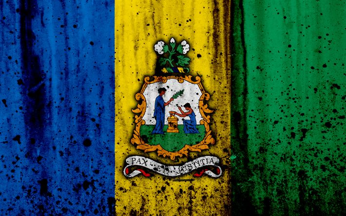 Download wallpapers Saint Vincent and the Grenadines flag, 4k, grunge, flag of Saint Vincent and the Grenadines, North America, Saint Vincent and the Grenadines, national symbols, Saint Vincent and the Grenadines coat of arms, Saint Vincent and the Grenadines emblem