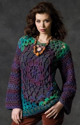granny square & cool: Hip Granny, Redheart, Crochet Sweaters, Red Heart, Granny Tunics, Free Patterns, Crochet Patterns, Crochet Tunics Patterns, Crochet Clothing