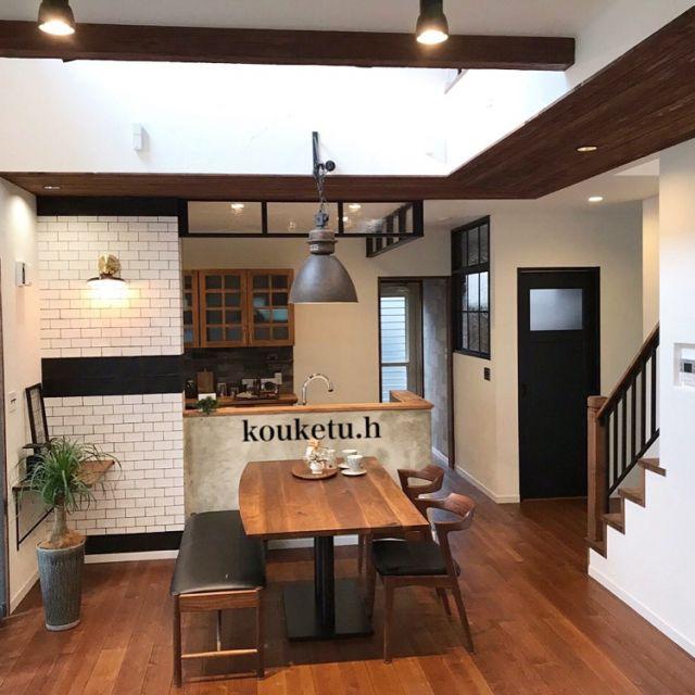 kouketu_homes1912さんの、デザイン,塗り壁,吹抜け,岐阜,マイホーム,オシャレ,インテリア,造作家具,リノベーション,コーケツホームズ,DIY,住宅,リビング,のお部屋写真