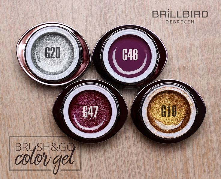 Brush&Go color gel BrillBird pentru unghii false.   www.brillbird.ro