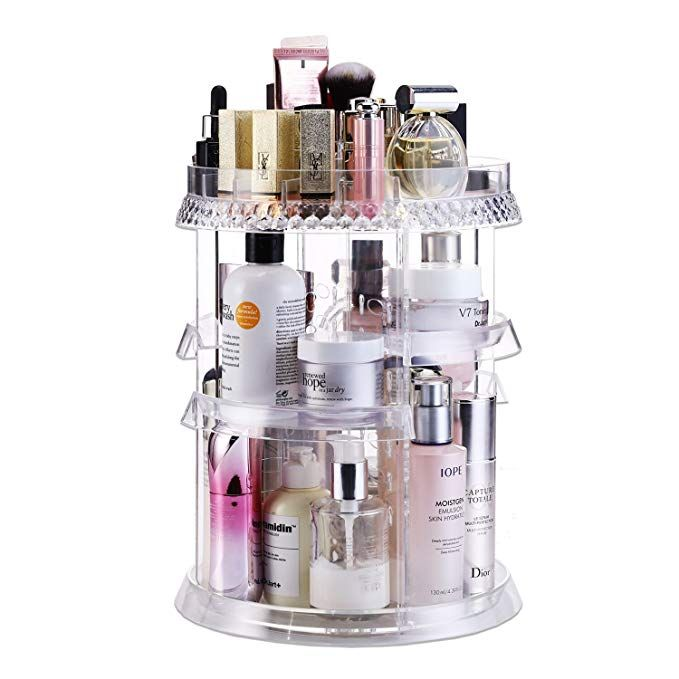 Makeup Organizer Acrylic Cosmetic Organizer Vanity And Rotating