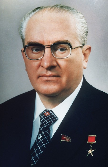Yuri Vladimirovich Andropov becomes the General Secretary of the Communist Party of the Soviet Union on November 12, 1982.