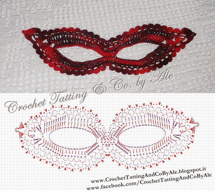 Crochet Tatting & Co. by Ale: Maschera di carnevale all'uncinetto - schema