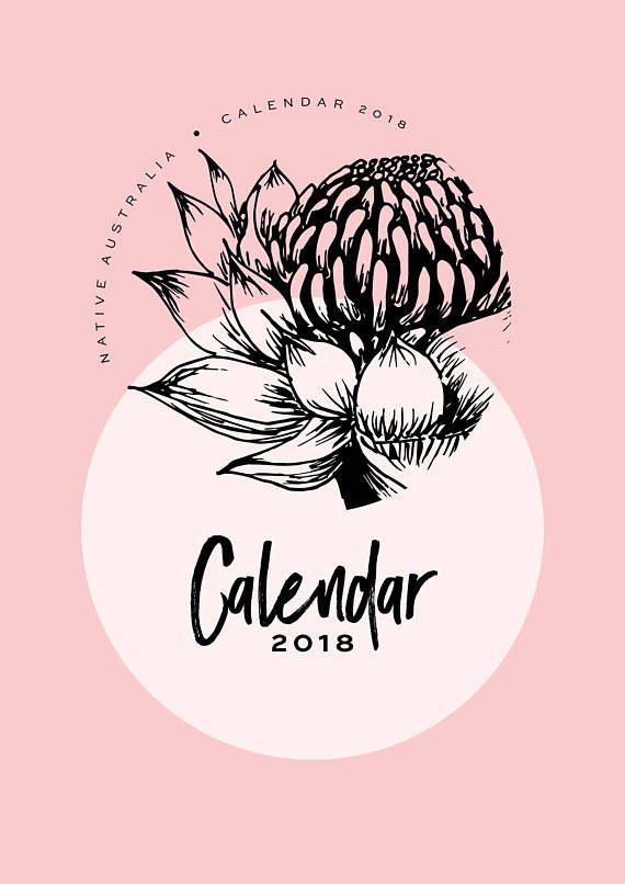 2018 Calendar PDF printable A3 or A4 Australia Art prints