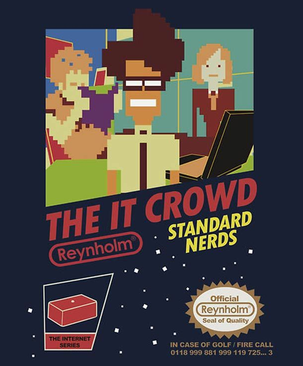 The IT Crowd Version NES !!! Top geek \(*O*)/