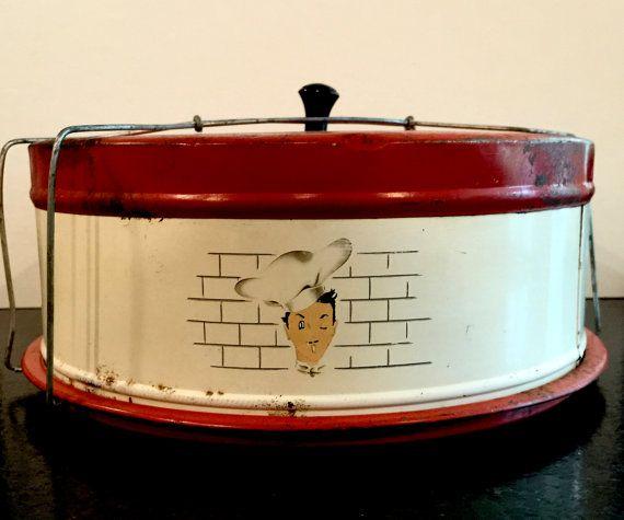Portador de pastel lata vintage protector de por VintagePrairieHome