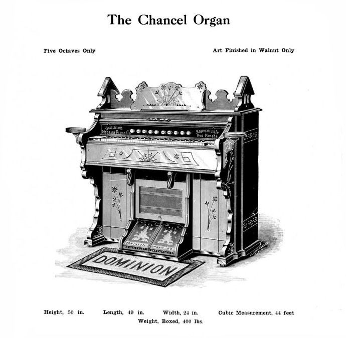 Dominion - 1M Reed Organ. Chancel Organ Model.