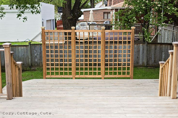10 Best Privacy Ideas For A Deck Images On Pinterest